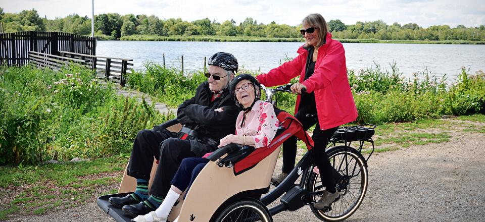Cykelpiloter får motion ved at hjælpe andre