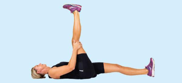Stræk af sædemuskler og lårets bagside